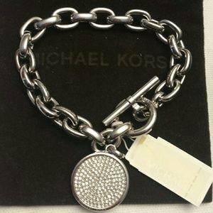 Michael Kors NWT Silver Toggle Bracelet